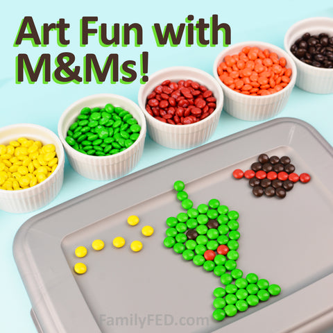 Make M&M Art Masterpieces—an Easy Art Project with Candy That Helps You Talk about Creative Problem-Solving with Your Kids and Teens!