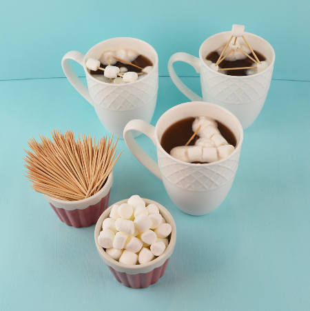 Let marshmallows melt in hot chocolate for this easy engineering STEM project