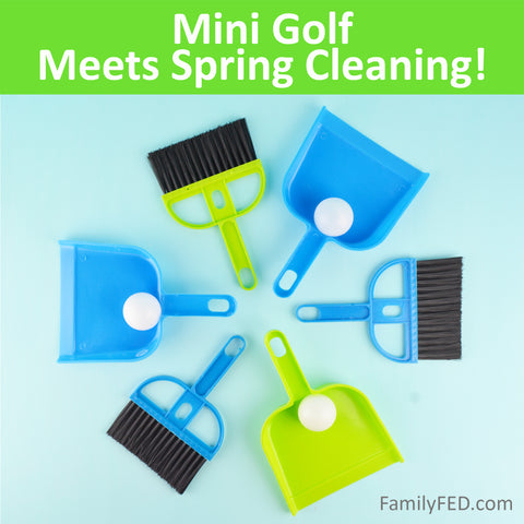 Mini Golf Meets Spring Cleaning in These 3 Dustpan-and-Broom Golf Games!