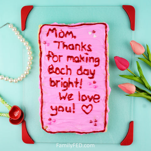 Edible Mother's Day card with sugar cookies