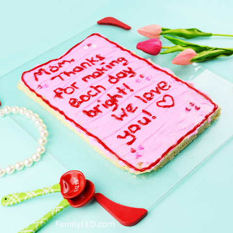 Make an edible sugar cookie Mother's Day card