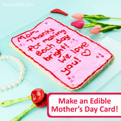 Make an edible Mother's Day card