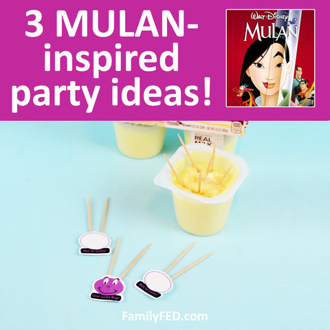 3 Easy MULAN Party Games for a Disney+ Movie Night