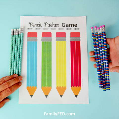 2. Instead of taking turns, face off by rolling ALL of your pencils at the same time!