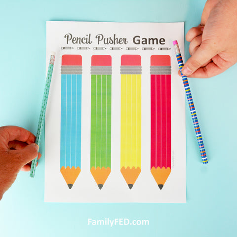 Pencil Pusher Printable Game for Back-to-School Fun or Family Game Night