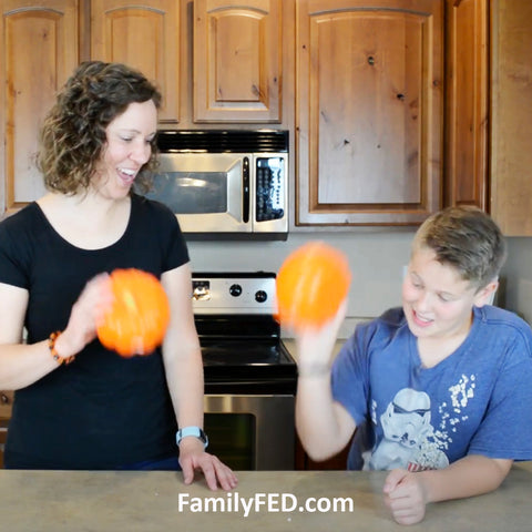 """""""Penny Pumpkins"""" Halloween Party Game—""""Minute to Win It"""" Game Style!"""