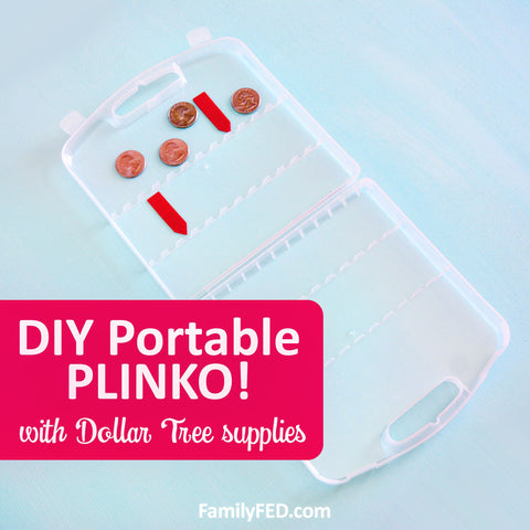 DIY Portable PLINKO Game with Dollar Tree Supplies—Great for Car Games, Road Trips, and Family Game Nights at Home