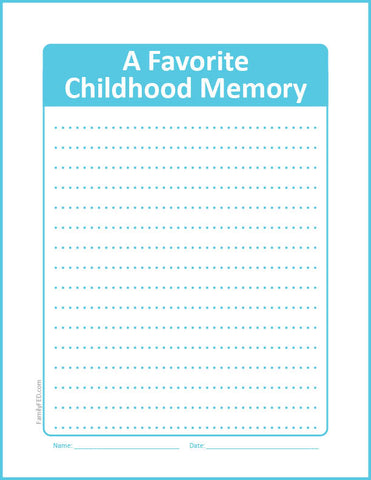 Easy Journaling Prompt Printable about Childhood Memories to Record Your Family Story