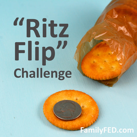 Ritz Flip Challenge—easy boredom buster idea for families, kids, and teens