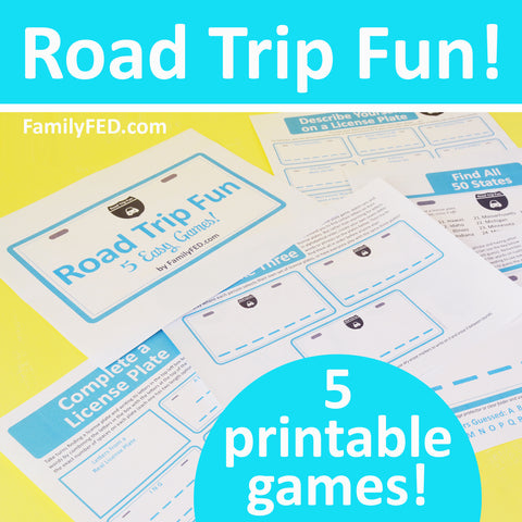 5 fun printable games for road trips and license plate games