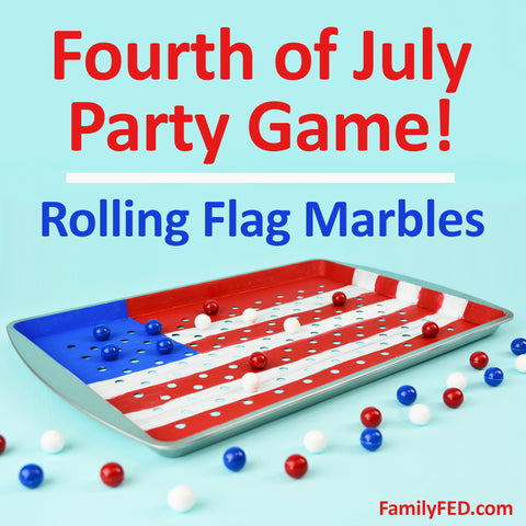 Rolling Flag Marbles DIY Game—Easy Fourth of July Party Game