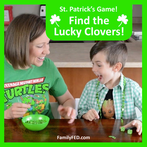 Find the Lucky Clovers St. Patrick's Day Party Game for Kids and School—Printable
