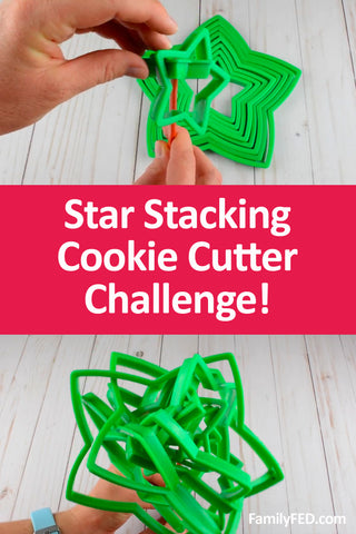 Minute to Win It Christmas Party Game Idea: Stacking Star Cookie Cutter Challenge