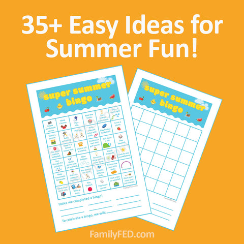 Super Summer Bingo Printable—over 35 Fun Family Activities to Enjoy This Summer!