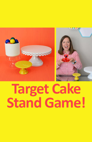 "Target Dollar Spot Cake Stand DIY Game: ""Upside-down Cake Bounce"""
