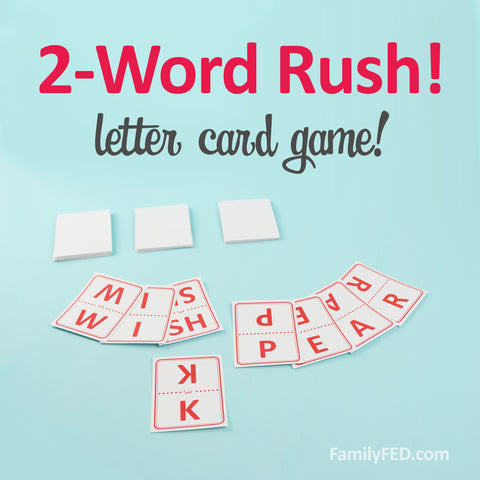 2-Word Rush Letter Card Game on Family FED