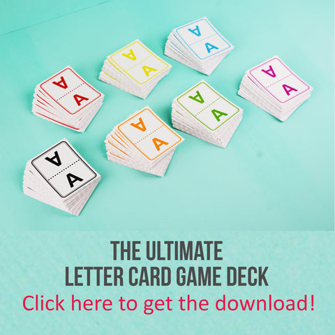 Ultimate Letter Card Game Deck by Family FED
