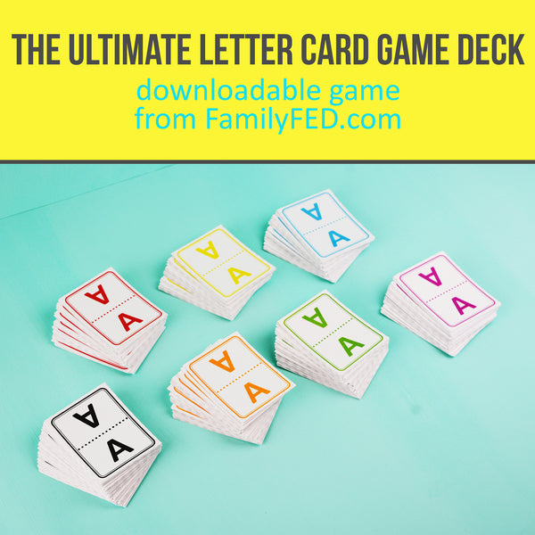 The Ultimate Letter Card Game Deck