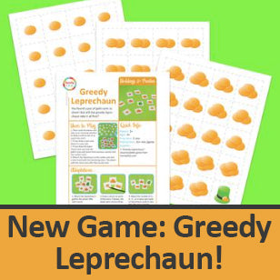Greedy Leprechaun downloadable game for St. Patrick's Day