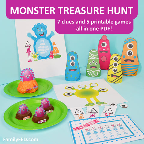 Monster Treasure Hunt for a Monster Party, or Trick-or-Treat Alternative for a Halloween Party
