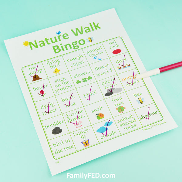 Nature Walk Bingo—10 Downloadable Cards for an Easy Outdoor Adventure to Appreciate Nature