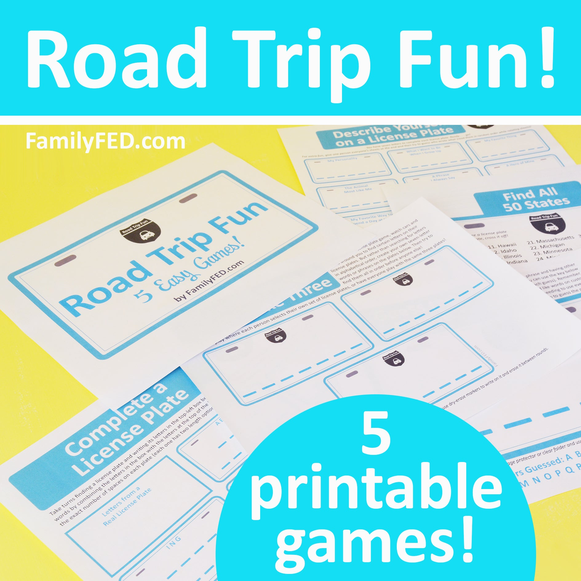 5 Easy Printable Road Trip Games!