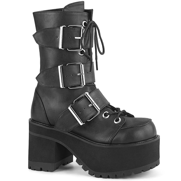 3 3/4 Inch Heel, 2 1/4 Inch Platform Lace-Up Ankle Boot, Side Zip - RANGER-308