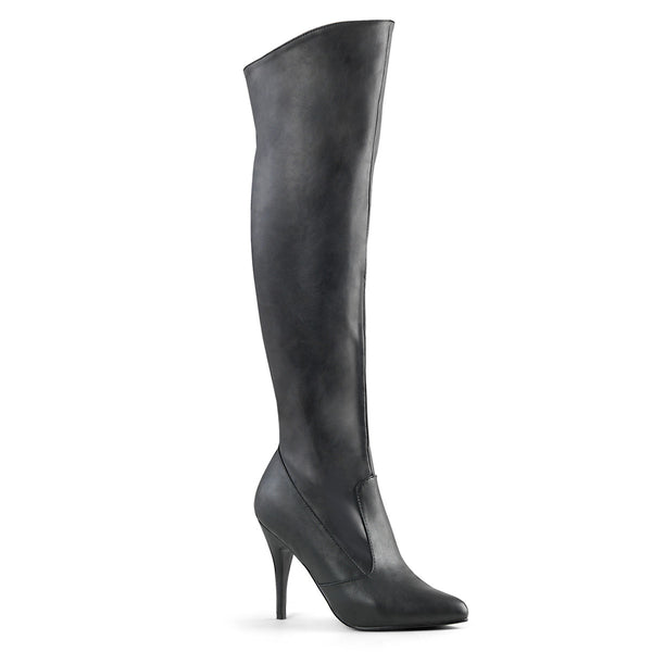 4 Inch Heel, Pull-On Knee Boot, 1/2 Inside Zip - VANITY-2013