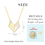 Adjustable S925 Sterling Silver Love Heart Chain Necklace for Women Girl