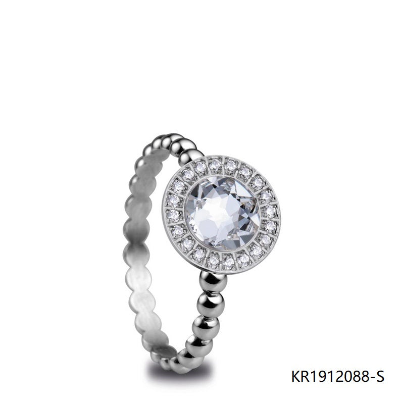 Pave Set Cubic Zirconia 925 Sterling Silver Ring