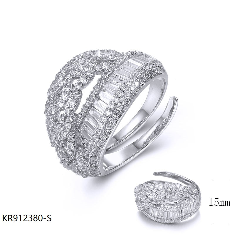 CZ Sterling Silver Bridal Ring for Wedding