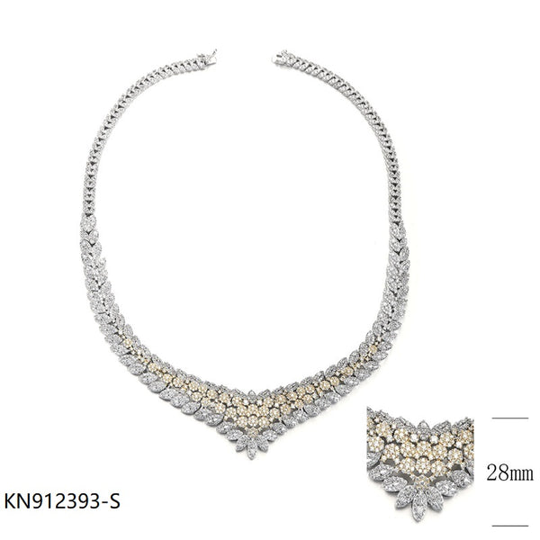 CZ Sterling Silver Necklace for Wedding
