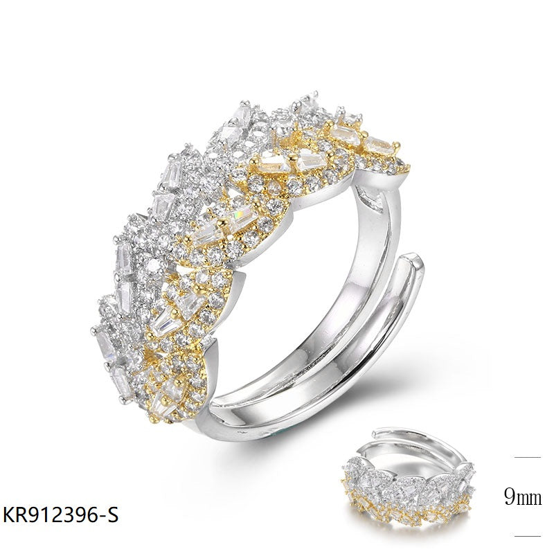 CZ Sterling Silver Floral Ring for Wedding