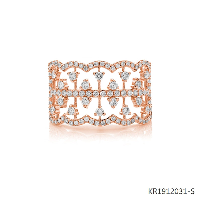 Vintage-Inspired Cubic Zirconia Ring in 18K Rose Gold Plated Sterling Silver