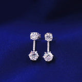 Sterling Silver Drop Earring Screw Back detail picture