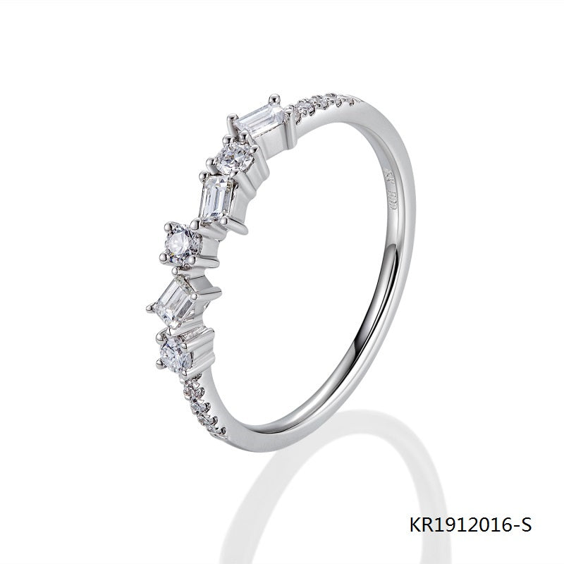 S925 Ring with Clear AAA Grade CZ Stones