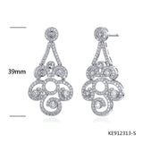 Sterling Silver Earring Studs with Clear CZ Stones for Wedding