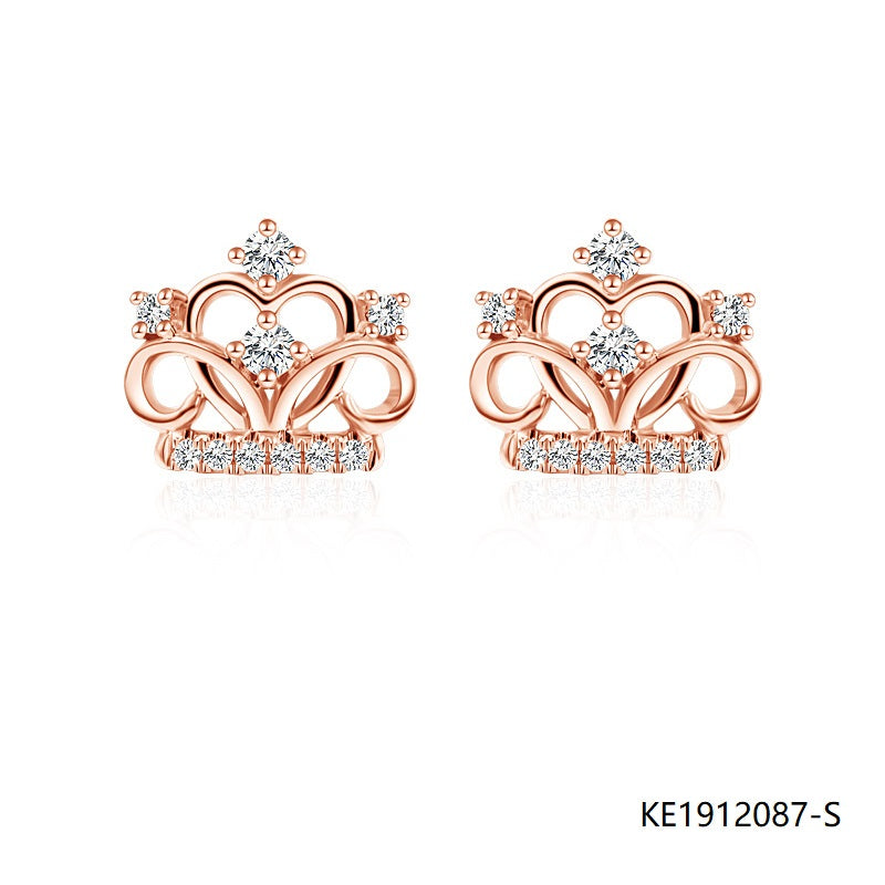 Crown Charm in Rose Gold Plated Sterling Silver