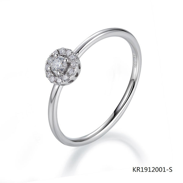 KadArt Sterling Silver Ring with Clear Cubic Zirconia