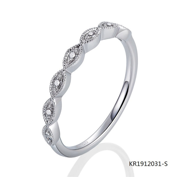 Kadart Sterling Silver Evil Eye Ring with Clear CZ Stones