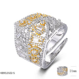 Sterling Silver Band Ring with CZ Stones for Wedding