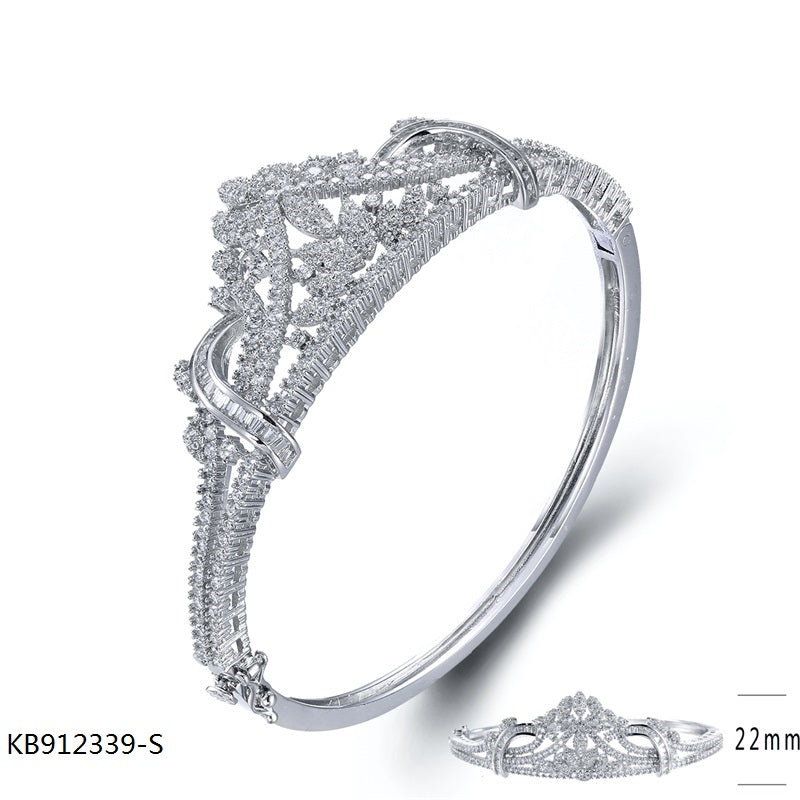 Cubic Zirconia Stones Sterling Silver Band Ring for Wedding