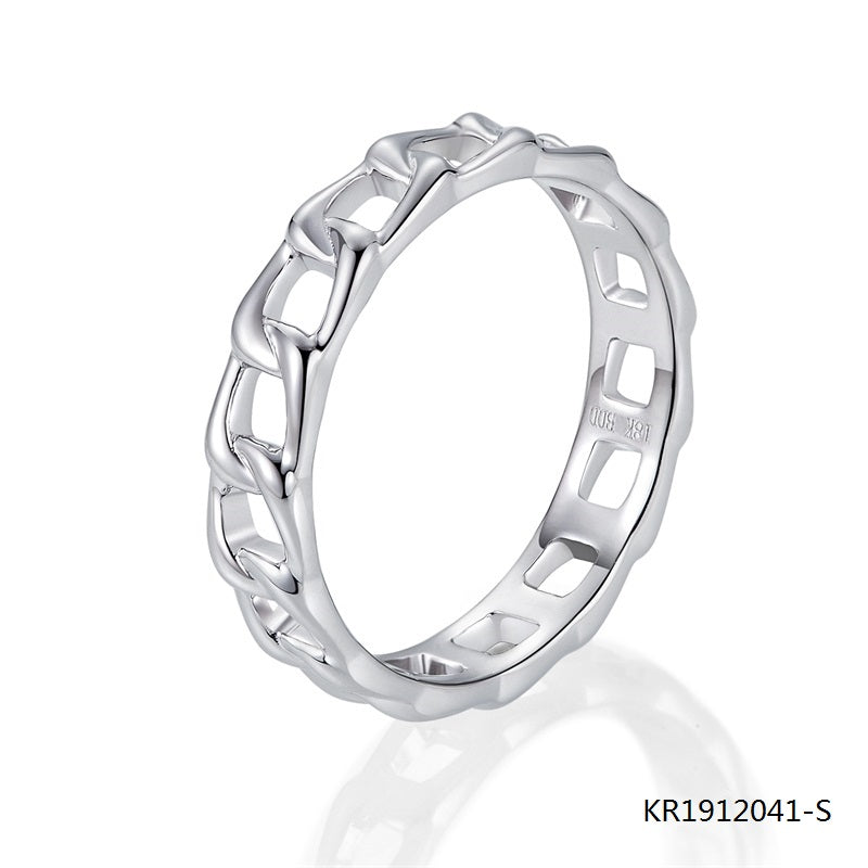 Kadart Chain-link Sterling Silver Engagement Ring