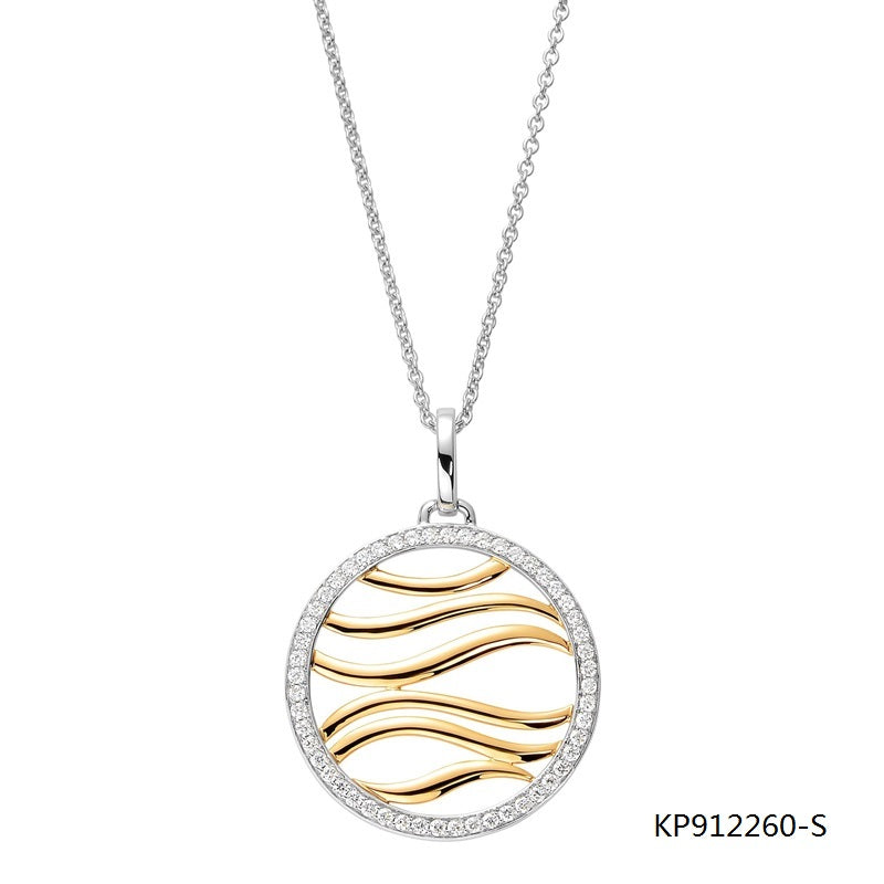 Making Waves Pendant in 18K Gold Plated Sterling Silver