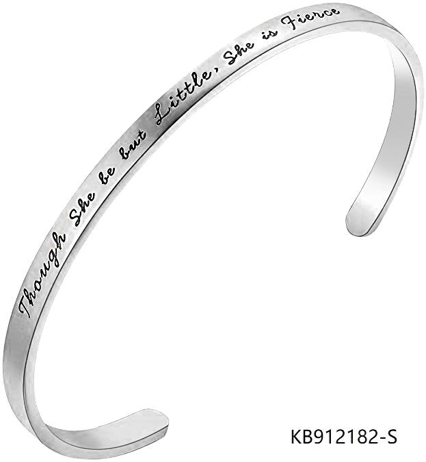 Cuff Bracelet Sterling Silver Bangle Inspirational Jewelry custom words
