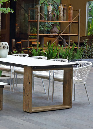 Four Square Table - Bamboo | Black 90cm