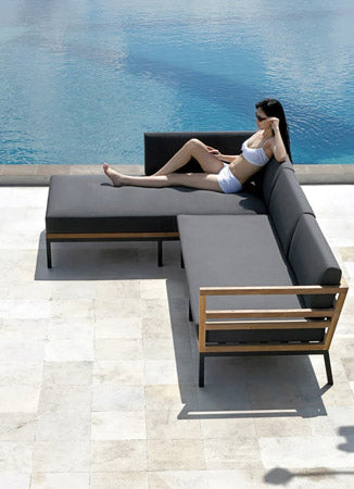 Stripe Stackable Sunlounger