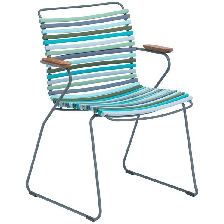 Click Dining Chair with Armrest -  Multicolour Blue