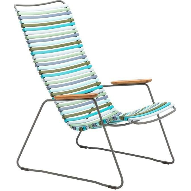 Click Lounge Chair Blue Stripe