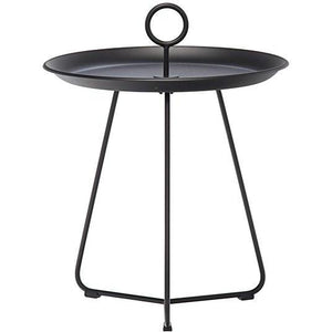 Eyelet Tray Table Black 45 cm